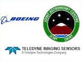 Boeing, Joint Astronomy Centre and Teledyne Imaging Sensors Logos